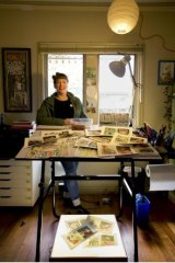 Sarah Catherine Firth in her East Brunswick home/studio.