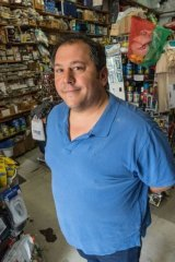 Old-school and going strong: Tony Bisbas of Bisbas Hardware.