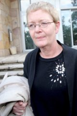 Abrupt and lacking in compassion....Stacey Dickens leaves the inquest yesterday.