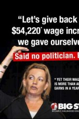 Double standard: Screen grab of the Big Steps campaign, which is lobbying for higher wages.