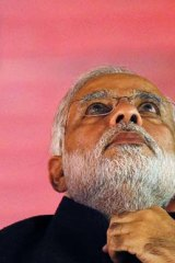 Narendra Modi, BJP candidate and the chief minister of the western state of Gujarat.