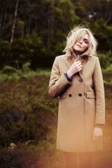 The British label's autumn 2012 collection includes camel wool coats and tweed jackets.