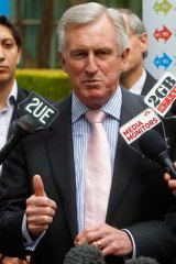 Incapable of defending Rinehart during a live television program ... former Liberal Leader John Hewson.