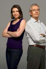 Heated debate ... Anna Rose and Nick Minchin.