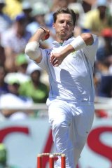 Steel-eyed focus ... Dale Steyn is the world's No.1 Test bowler.