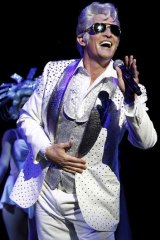 Todd McKenney as Teen Angel in <em>Grease</em>.