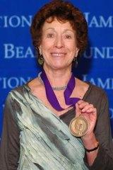 Honoured ... Jill Norman with the James Beard award.