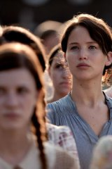Katniss is played in the film version of <i>The Hunger Games</I> by Jennifer Lawrence.