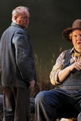 Barry Ryan and Anthony Dean Griffey as George and Lennie.