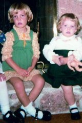 Carrie, aged four with her younger sister Jillian.