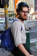 Brendan McCleary was hit by a car while pedalling through the intersection of Swanston and Victoria streets last year.