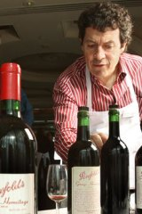 Winemeaker Peter Gago at the Penfolds recorking in Melbourne.