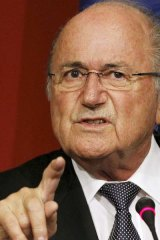 Anti-discrimination  ... FIFA President Sepp Blatter.