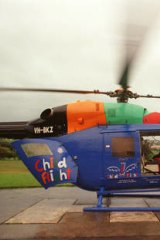 The Child Flight helicopter.
