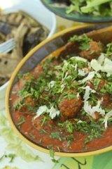 Lamb meatball dish.