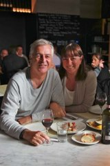 Peter and Bev Doyle at Enopizzeria.