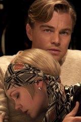 Lovers ... Leonardo DiCaprio as Jay Gatsby and Carey Mulligan as Daisy Buchanan in <i>The Great Gatsby </i>.