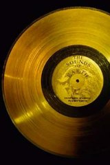 The golden record sent aboard NASA's Voyager 1 with a cartridge and a needle to play it.