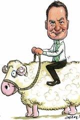 On the sheep's backs . . . ASX spokesman Matthew Gibbs.