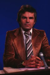 Early days: Les Murray, the face of SBS football coverage, in the studio.