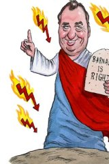 Joyce voice &#8230; warned in 2009 of the risk to the world of a US debt default.  <em>Illustration: John Shakespeare</em>.