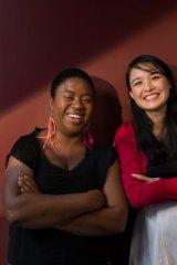 Writers united: Maxine Beneba Clarke and Alice Pung.