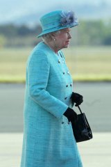 The Queen arriving in Canberra on Wednesday.