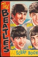 A Beatles scrapbook.