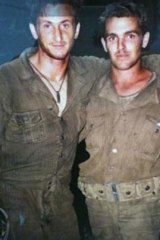 Taryn's brother Jason, with Sean Penn, on the set of Thin Red Line.