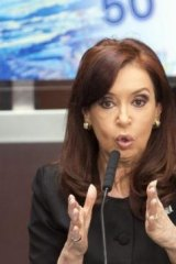 'Operatic': Cristina Fernandez de Kirchner has ramped up pressure for the Falklands to be recognised as Argentinian territory.