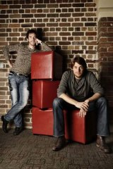 Scott Farquar, left, and Mike Cannon-Brookes, CEOs and founders of Atlassian Software.