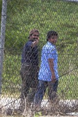 Refugees pictured at Phosphate Hill immigration detention facility on Christmas Island in 2010.