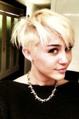 Miley Cyrus sports a daring new hairdo.