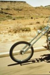 Cocaine, Dennis Hopper and Peter Fonda travel America in <i>Easy Rider</i> from 1969.