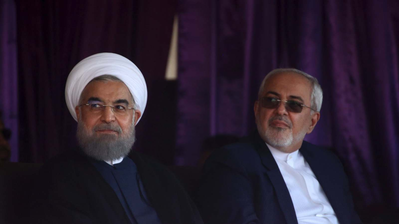 Iranian President Hassan Rouhani, left, with his Foreign Minister Mohammad Javad Zarif.