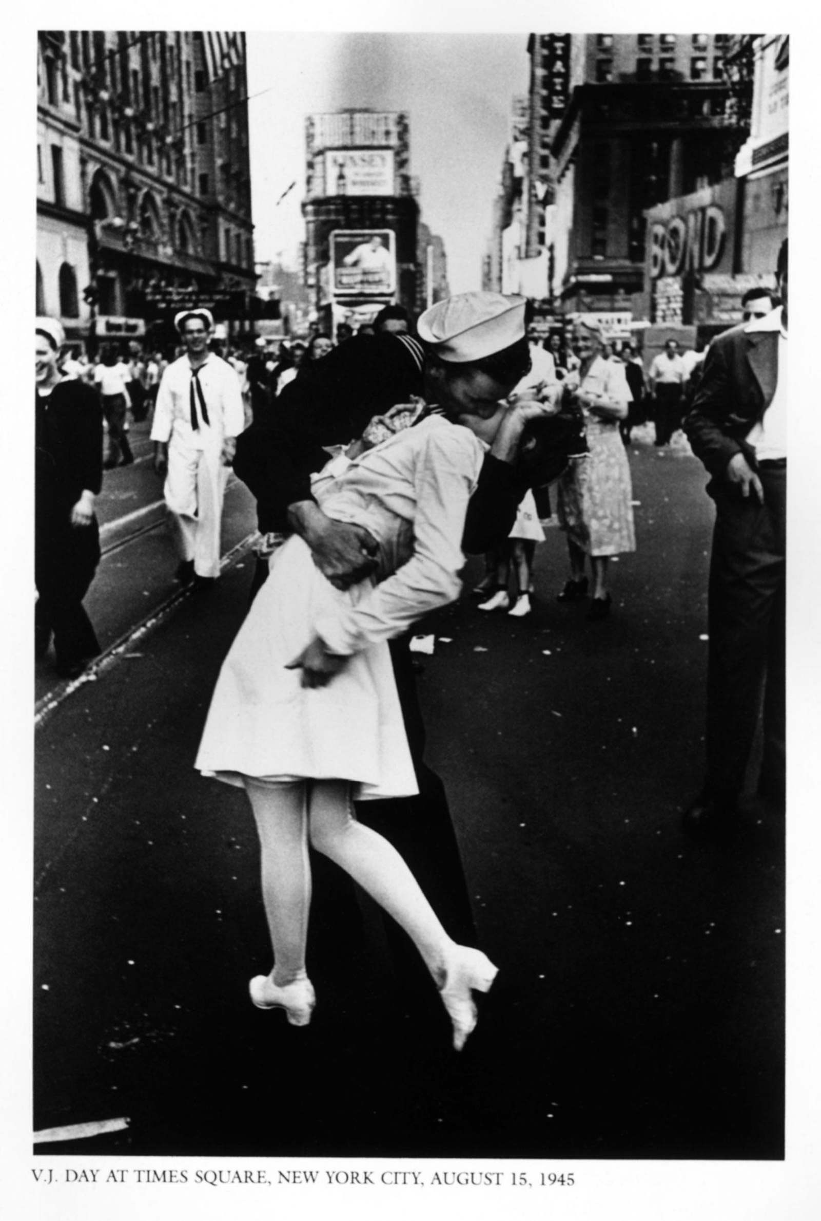 The photo of a sailor and a woman kissing in Times Square to celebrate the end of WWII became an iconic image.