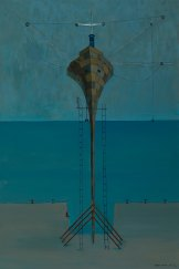 Edwin Tanner's <i>Iron Monarch</I>, 1957-70, teeters like a madcap Heath Robinson invention.