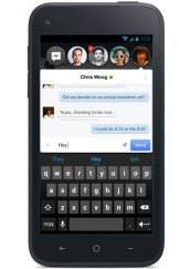 """Facebook's new Android app in """"Chat Head Thread"""" mode."""