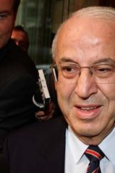 Eddie Obeid leaves the ICAC after giving evidence today.