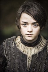 Maisie Williams as Arya Stark.