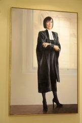 The portrait of Marilyn Warren by Archibald People's Choice winner Vincent Fantauzzo.