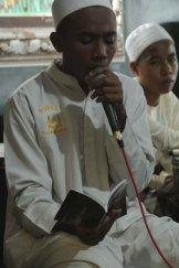 School spirit … students at Daarur Rasul perform chants in praise of prophet Muhammed.