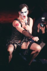 Tim Ferguson as Dr Frank-N-Furter in a stage version of <i>The Rocky Horror Picture Show</i>.