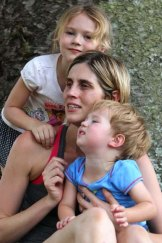 Not consulted: Brodie Donegan with Lachlan, 2, and Ashlee, 5.
