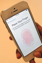 The new iPhone 5s has a fingerprint scanner.