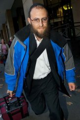 David Cyprys leaves Melbourne Magistrates Court yesterday.