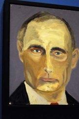 A rare hit: Bush's portrait of Russian President Vladimir Putin.