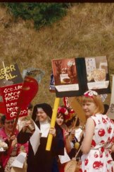 Sister Mary Corita Kent's silk-screen and stencil art sold the message of God in a novel way.