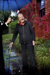 Dame Maggie Scott in the garden of her Toorak home.