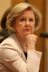 President of the Australian Human Rights Commission Gillian Triggs appears before a Senate committee at Parliament House in December 2016.